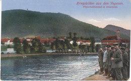 Images De Guerre Dans Les Vosges, La Piscine à Allarmont,envoyée En Allemagne,1916, 2 Scans - Documenten