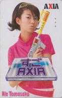 Télécarte Japon / 110-016 - FEMME Cinema - ** AXIA ** - RYE TOMOSAKA - Actress  WOMAN GIRL - FRAU Telefonkarte - 3473 - Film