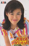 Télécarte Japon / 110-011 - FEMME - ** AXIA ** WOMAN GIRL - FRAU Telefonkarte - 3474 - Reclame