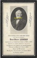 Leuridan Henri-Désiré ( Maire De Hem - Dcd 1817/1896 - Avvisi Di Necrologio