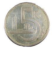 5 Korun - Tchécoslovaquie - 1930 - TB+ - - Czechoslovakia