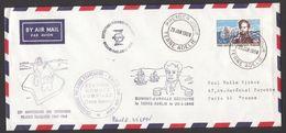 TAAF - Envelope 1er Jour , Dumont D'Urville , Signé : Paul E. Victor , Yvert# 25 -  FDCi Adressé à Paul E. Victor - RARE - Ongebruikt