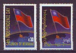 Myanmar - 2002, Independence Day 2v - Mnh - Myanmar (Burma 1948-...)