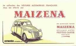 ANCIEN BUVARD MAIZENA /// La CITROEN 2 CV /// Très Bon état - Automobile