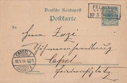 DR Ganzsache R3 Felsberg R.B. Cassel 10.5.94 - Briefe U. Dokumente