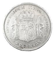 5 Pesetas   - Espagne - 1871 - Argent - TB+ - - Premières Frappes