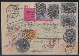 DR Paketkarte Mif Minr.23x 196,205 Gotha 27.9.22 Gel. In Schweiz - Deutschland