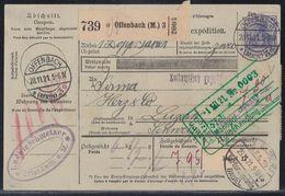 DR Paketkarte Mif Minr.149,10x 157 Offenbach 28.11.21 - Deutschland