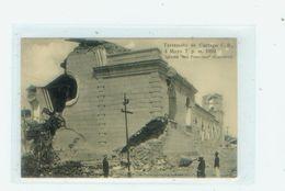 "Terremoto De Cartago. 4 Mayo 7 Pm 1910. Iglesia ""San Francisco"" - Costa Rica"