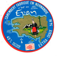 P 909 - ETIQUETTE DE FROMAGE - CAMEMBERT   EVEM 14 M.(CALVADOS ) - Cheese