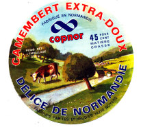 P 910 - ETIQUETTE DE FROMAGE - CAMEMBERT   COPNOR DELICE DE NORMANDIE .(CALVADOS ) - Cheese