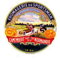 P 912 - ETIQUETTE DE FROMAGE -  FROMAGERIE DU SPORTSMAN  14 A L..(CALVADOS ) - Cheese