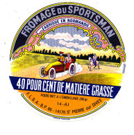 P 913- ETIQUETTE DE FROMAGE -  FROMAGE  FROMAGERIE DU SPORTSMAN  14 A I..(CALVADOS ) - Cheese