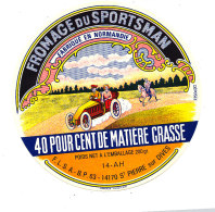 P 914- ETIQUETTE DE FROMAGE -  FROMAGE  FROMAGERIE DU SPORTSMAN  14 A H..(CALVADOS ) - Cheese