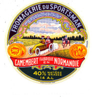 P 915 - ETIQUETTE DE FROMAGE - CAMEMBERT  FROMAGERIE DU SPORTSMAN  14 A L  (CALVADOS ) - Cheese