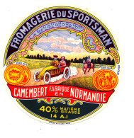 P 916 - ETIQUETTE DE FROMAGE - CAMEMBERT  FROMAGERIE DU SPORTSMAN  14 A I  (CALVADOS ) - Cheese