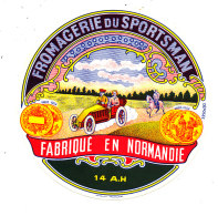 P 917 - ETIQUETTE DE FROMAGE -  FROMAGE   FROMAGERIE DU SPORTSMAN  14 A H (CALVADOS ) - Cheese