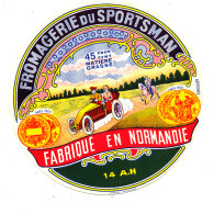 P 918- ETIQUETTE DE FROMAGE -  FROMAGE   FROMAGERIE DU SPORTSMAN  14 A H (CALVADOS ) - Cheese