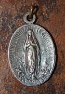 """Pendentif Médaille Religieuse """"Immaculée Conception / Sainte Marie - Années Mariale 1954"""" Religious Medal - Religion & Esotérisme"""