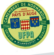 P 924 - ETIQUETTE DE FROMAGE - CAMEMBERT  U F P A . M. LANQUETOT SAINT MARTIN DE BIENFAITE (CALVADOS ) - Cheese