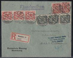 DR R-Brief Mif Minr.5x 318A,3x 321A Hamburg 1.11.23 - Allemagne