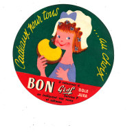 P 946 - ETIQUETTE DE FROMAGE -  CADEAUX POUR TOUS  AU CHOIX  BON GRAF  DOLE JURA - Cheese