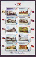 Myanmar - 2007 ASEAN MiniSheet Of 10 M/s - Mnh - Myanmar (Burma 1948-...)