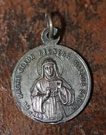 """Pendentif Médaille Religieuse Début XXe """"Sainte Marie / Sacré Coeur De Jésus Christ"""" Religious Medal - Religion & Esotérisme"""