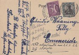 DR Karte Mif Minr.104c,183a Dernbach 18.4.22 Geprüft - Deutschland