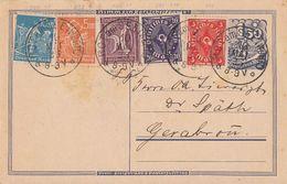 DR Ganzsache Zfr. Minr.183b,225,229P,238,239 Rot Am See 10.5.23 Geprüft - Deutschland
