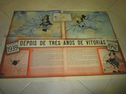 Poster Affiche WWII Deuxieme Guerre Mondiale War Evolution World Map 1942 - Posters