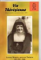 Vie Thérésienne,vie  De Léonie MARTIN, Année 1940,  Soeur De Thérèse De L'Enfant Jésus, 188 Pages, Religion, LISIEUX, - Religion