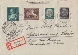DR R-Brief Mif Minr.512,516,699,700 Osnabrück 22.8.39 Gel. Nach Italien - Briefe U. Dokumente