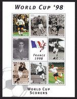 Tanzania, Scott #1624-1625, Mint Never Hinged, World Cup Soccer, Issued 1997 - Tanzania (1964-...)