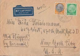 DR Luftpost-Brief Mif Minr.515,528 München 14.10.41 Gel. In USA Zensur - Briefe U. Dokumente