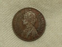 Französisch/French Martinique Napoleons Josephine, 1897, 50 Centimes Vz+/xf+ - Colonies