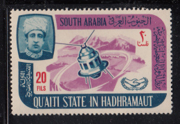 South Arabia Qu'aiti State 1966 MNH SG #83 20f Satellite International Cooperation Year - Timbres