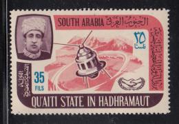 South Arabia Qu'aiti State 1966 MNH SG #85 35f Satellite International Cooperation Year - Timbres
