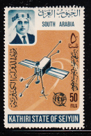South Arabia Kathiri State 1966 MH SG #87 25f Telstar Satellite ITU Centenary - Autres - Asie