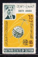 South Arabia Kathiri State 1966 MH SG #90 65f Telstar Satellite ITU Centenary - Timbres