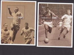 Tanzania, Scott #1626-1627, Mint Never Hinged, World Cup Soccer, Issued 1997 - Tanzania (1964-...)