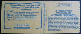 Lot 1533 - TYPE MARIANNE DE BRIAT - CARNET N°2874 NEUF** (non Plié) - Cote : 18,00 € - Booklets