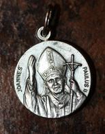 """Pendentif Médaille Religieuse """"Pape Jean-Paul II / Année Mariale 1987/1988"""" Religious Medal - Religion & Esotérisme"""