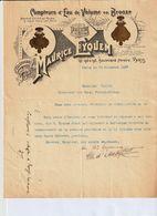 Fabrique De Compteurs D'eau De Volume En Bronze, Ets. EYQUEM Maurice, Bld Péreire 191/196, PARIS, 1897 - Frankreich