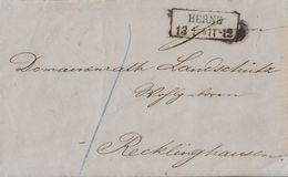 Preussen Brief R2 Herne 13.1. Gel. Nach Recklinghausen - Preussen