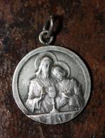 """Pendentif Médaille Religieuse De Communion Début XXe """"Jésus Christ"""" Religious Medal - Religion & Esotérisme"""