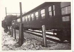 Stembert  Aux Surdents Passage à Niveau (photo 12.5x9)train Rails Neige *TOUT A 2€ VOIR DESCRIPTION, BOUTIQUE* - Verviers