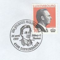 1999 LUXEMBOURG  SYDNEY G THOMAS  EVENT COVER Chemistry Stamps - Covers & Documents