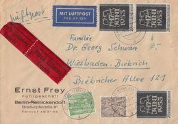 Berlin Brief Eilbote Mif Minr.47,48,3x 110 Berlin-Reinickendorf 29.11.55 - Berlin (West)