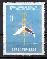 Viñeta De Albacete X  Feria Nacional De Cuchilleria. 1976 - España